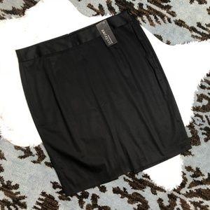 NWT Lane Bryant Black Pencil Skirt 14